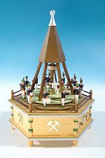 Historical Miner's Lift 1850<br>Flath Music Box